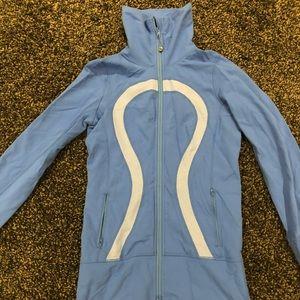 Light blue Lululemon Zip Jacket